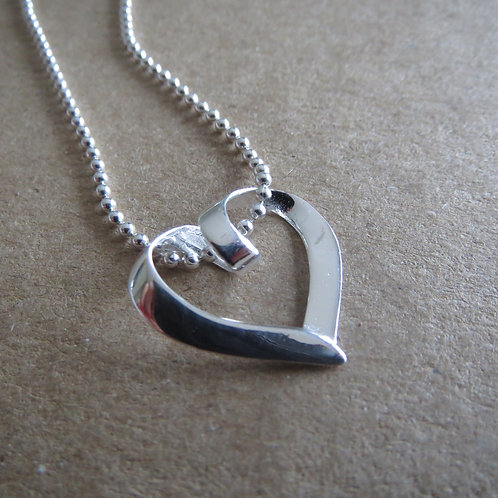 Folded Open Heart 2 Necklace