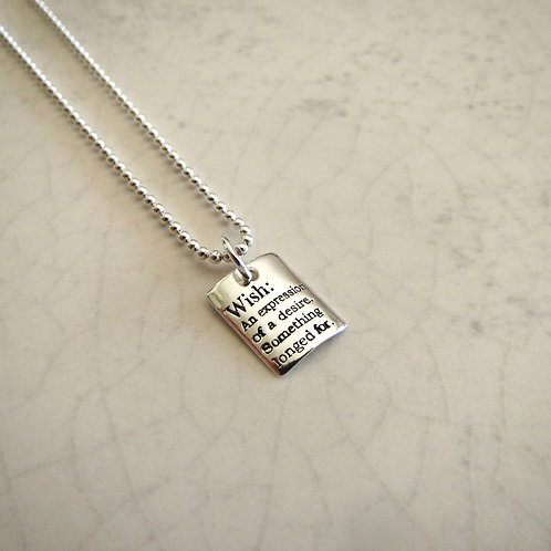 Wish Tag Necklace