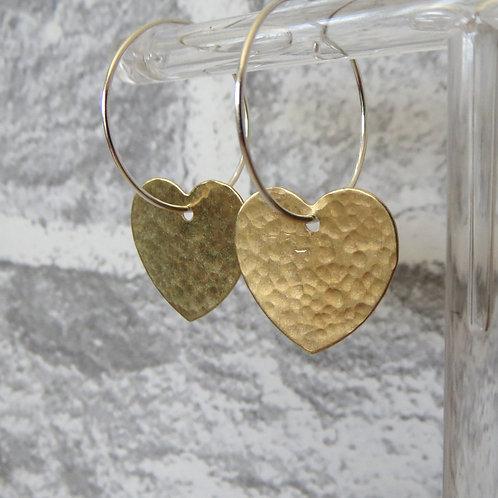 Brass Heart Hoop