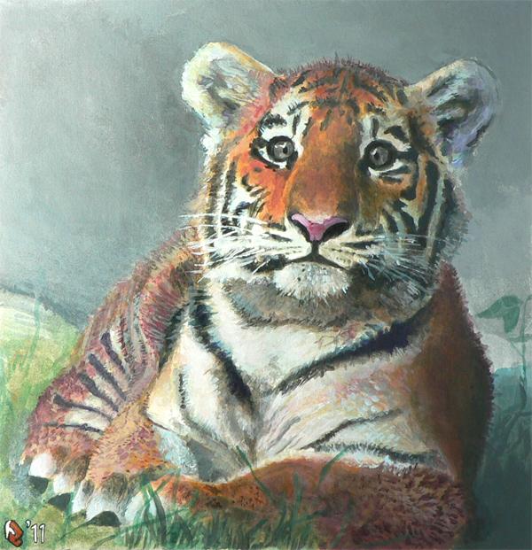 Acrylic Tiger