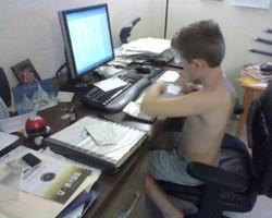 Joey working