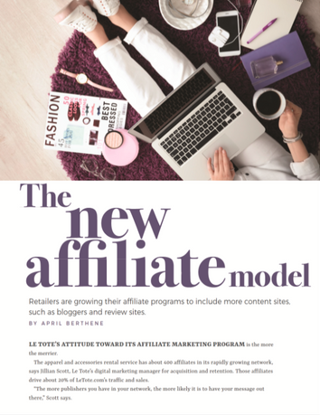 Internet Retailer: The New Affiliate Model