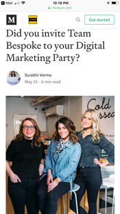 The Medium: Did you invite Team Bespoke to your Digital Marketing Party?