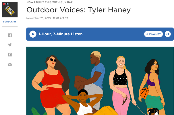 HOW I BUILT THIS WITH GUY RAZ Outdoor Voices: Tyler Haney
