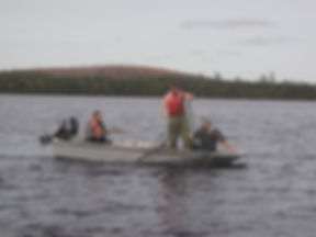 This 2008 photo shows a smallmouth bass captured in a gill net, part of the early federal-provincial response to the introductio. Courtesy N.B. Department of Energy andResource Development