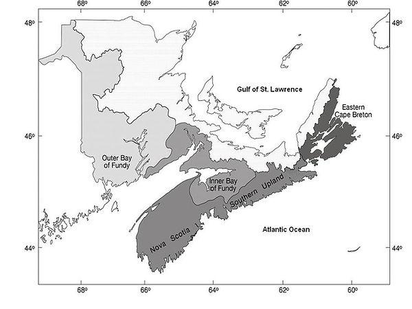 Map of Atlantic salmon populations - DFO