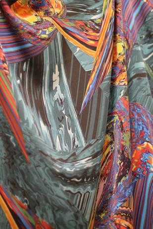 Авторский шелковый платок