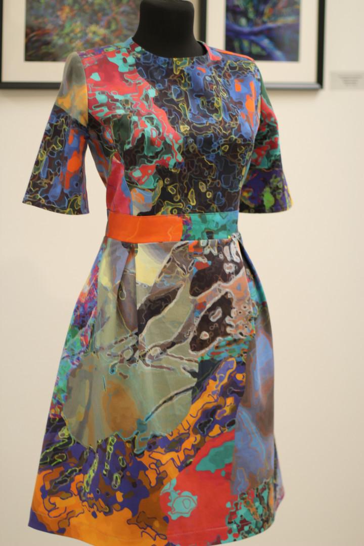 10.jpgАвторское платье из хлопка. Рисунок-принт