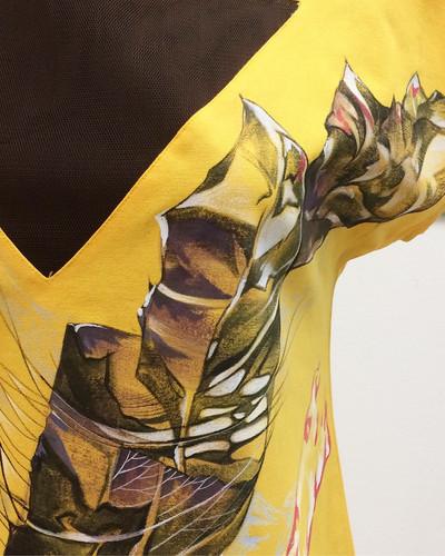 Авторское платье с ручной росписью