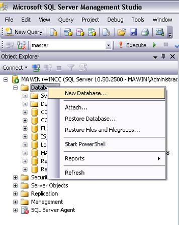 WinCC - Accessing SQL Server Database