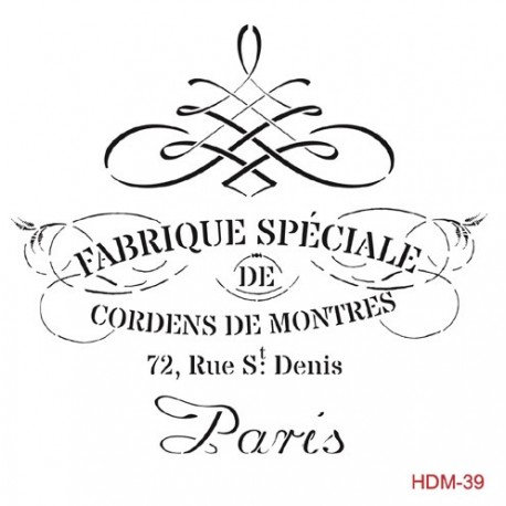 Stencil FABRIQUE ESPECIALE 25x25cm
