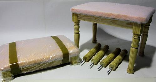 Banqueta escabel pre tapizado 50x40x34