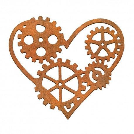 Corazón engranajes Siluetas DM 10x12