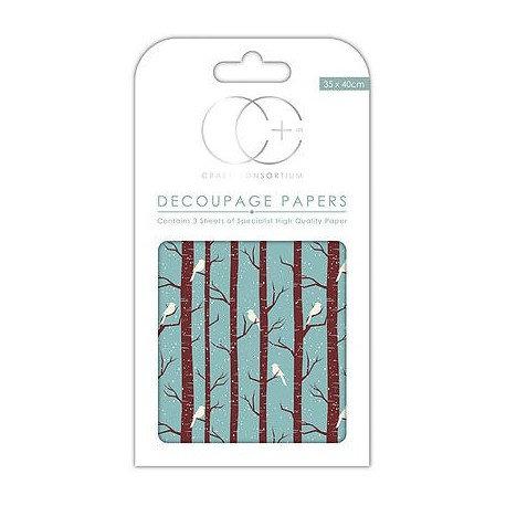 Decoupage WINTER WOODLAND 35x40