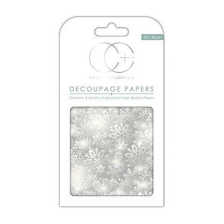 Decoupage SILVER SNOWFLAKES 35x40