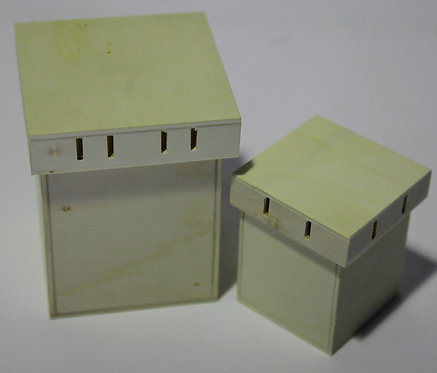 Juego cajas con ranura para cintas A, C