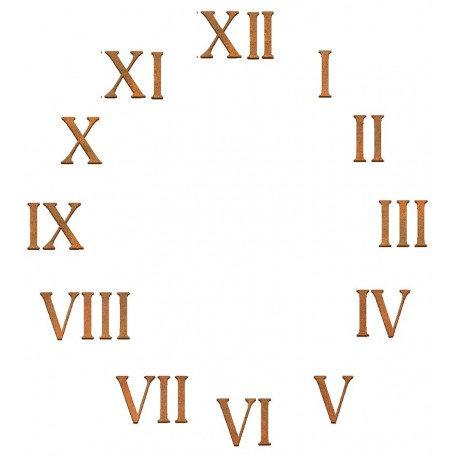 Conjunto 26 números Romanos Siluetas DM 5x3