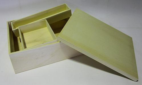 Caja multiusos tapa encaje 40x13x34