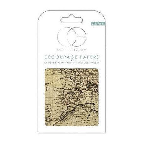 Decoupage WORD MAPS 35x40