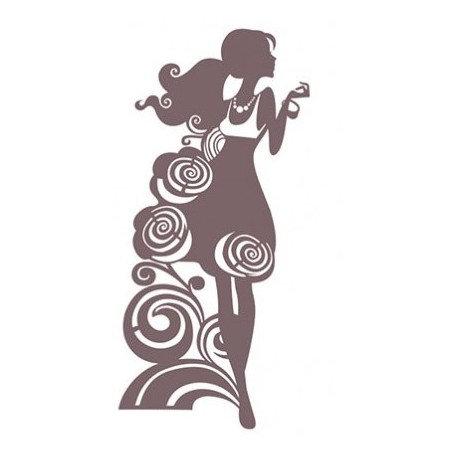 Stencil Shadow CHICA DE MODA 25x30