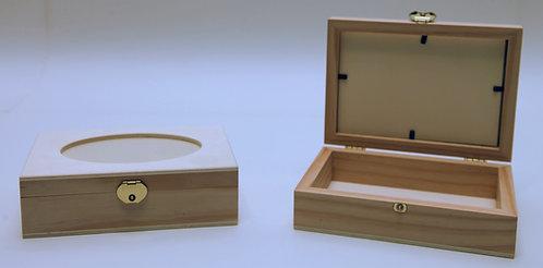 Caja óvalo con cristal B 24x5,5x14