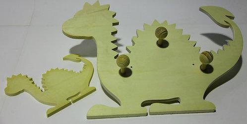 Percha dinosaurio C Stegosaurio 46x37
