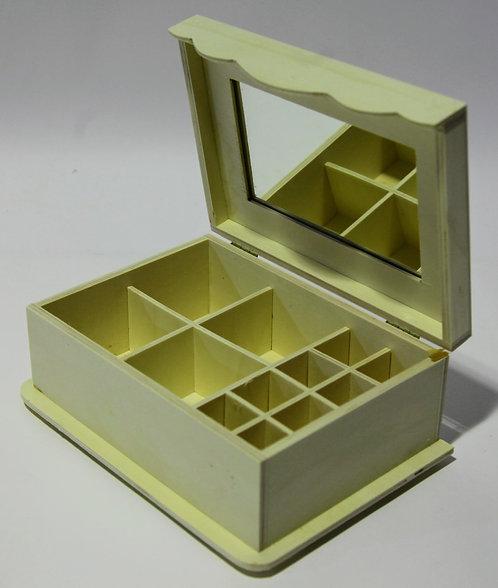 Caja joyero con espejo 24x13x18