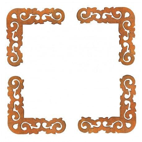 Conjunto 4 esquinas hondas Siluetas DM 6x6