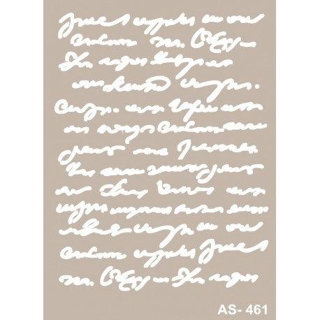 Stencil TEXTO 21x30