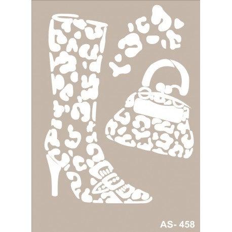 Stencil BOTAS Y BOLSO 21x30