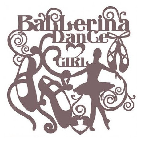 Stencil Shadow BALLERINA 25x30