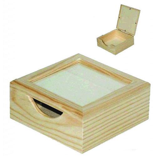 Caja sevilletas con tapa cristal 21x9x21