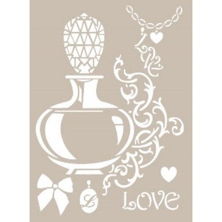 Stencil PERFUME LOVE 21x30