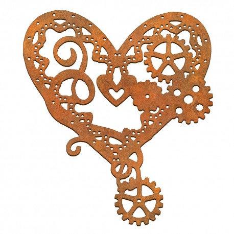 Corazón engranajes labrado Siluetas DM 12,5x10,5