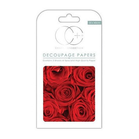 Decoupage RED ROSES 35x40