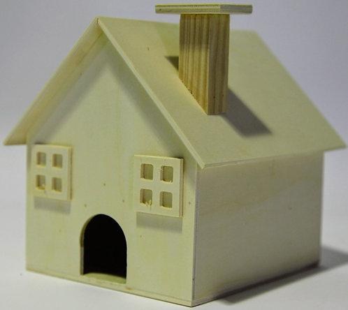 Casa pájaros chimenea 16x17x18