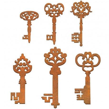 Conjunto 6 llaves Siluetas DM 2,5x2