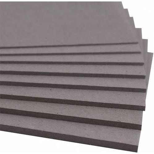 Cartón Contracolado Gris 1mm. 52,5x37,5cm