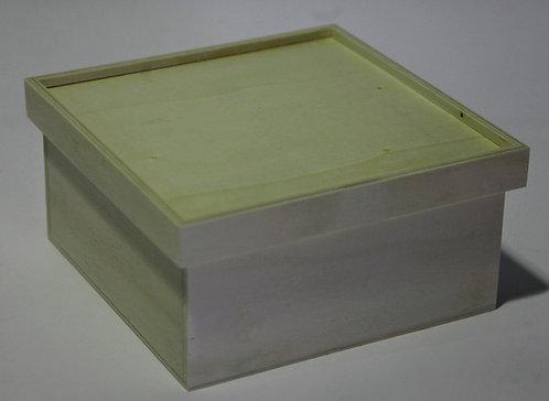 Caja cuadrada tapa rebaje 21x10x21