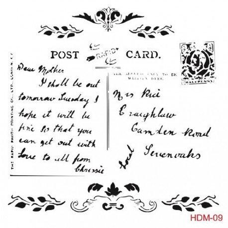 Stencil POST CARD 25x25cm