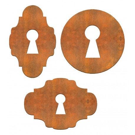 Conjunto 3 cerraduras Siluetas DM 5x5 / 5x4