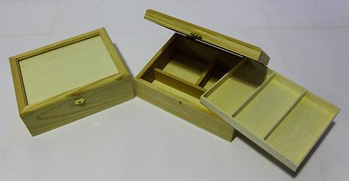 Caja costura tapa cristal 26x9x20