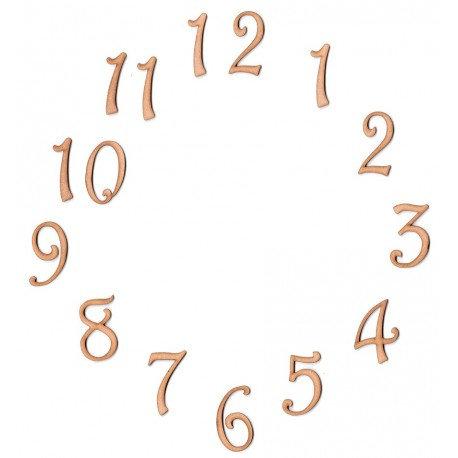 Conjunto 15 números Siluetas DM 5x3