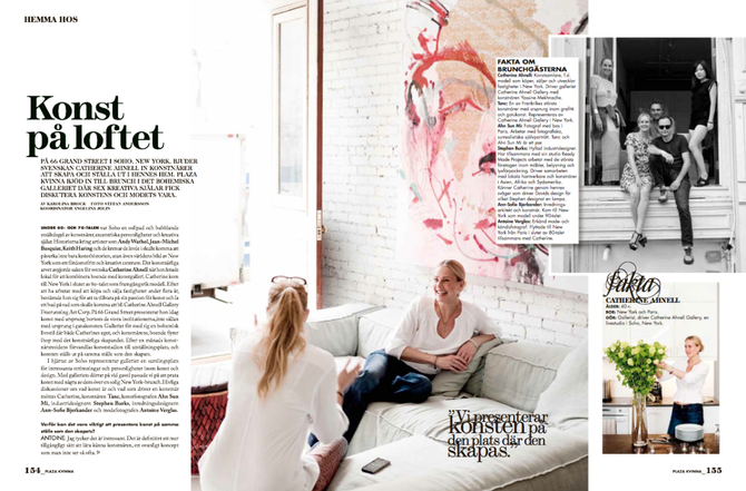 6 pages feature in the Swedish Magazine Plaza Kvinna