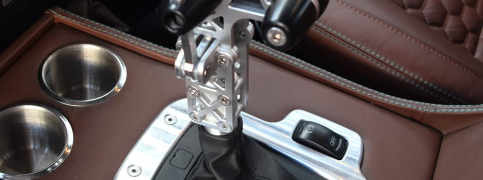 Intricate custom gear lever with machined surround