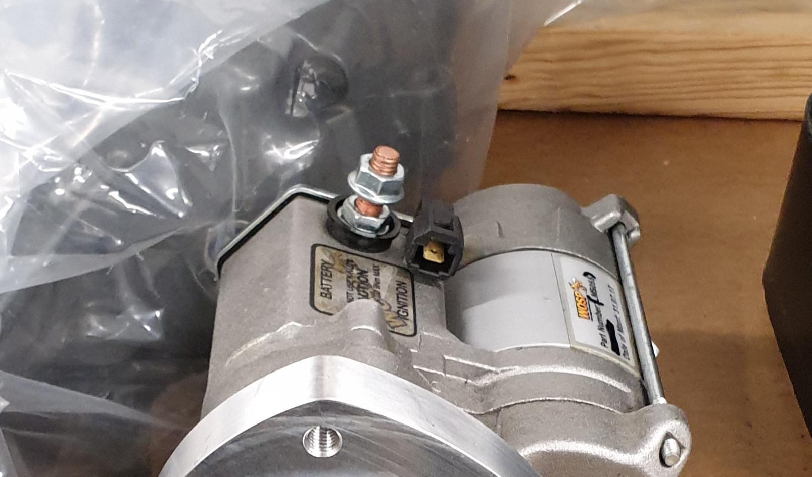 Starter motor adapter fitting