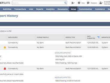 NetSuite Enhancements in Bank Integration Import Process