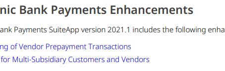 EFT Bank Payment Module Supports Vendor Pre-payment