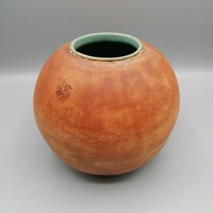 Moon jar with Huginn and Muninn