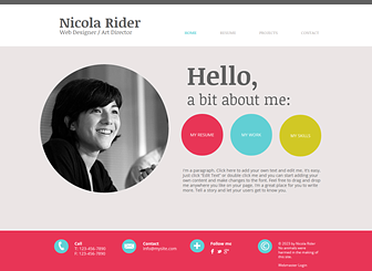 how to change wix template - curriculum vitae website template wix
